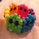 Rainbow Pacman Ghost Cuff