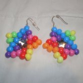 Rainbow Star Earings