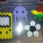Game Boy, Squid, Flower And Pot Leaf