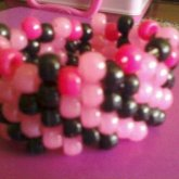 Pink And Black Cuff