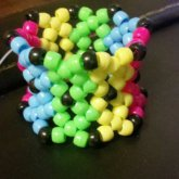 Pink, Blue, Yellow, Green Cuff.