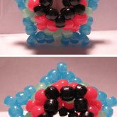 Pink/Green/Blue/ Black 3D Star!