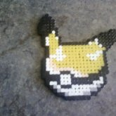 Pikachu Pokeball (Perler Beads)
