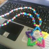 3-D Kandi Star Necklace ^_^