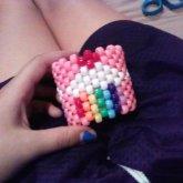 Rainbow Cupcake Kandi Cuff