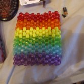 Kandi Rainbow/ Gay Pride Cuff
