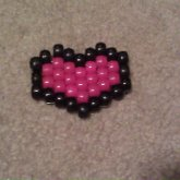 Pink Nd Black Heart