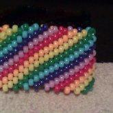 Rainbow Cuff (mini Pony Beads)