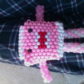 Pink And White Domo Bag Sorta Thingy >.<