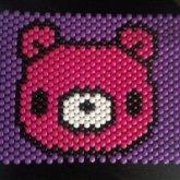 Gloomy Bear Poster / Peyote Stitch