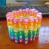 Rainbow Letter Cuff