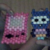 Little Owl And Pink Gameboy