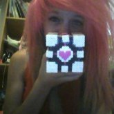 Perler Companion Cube