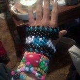 Kandi Glove Heart <3