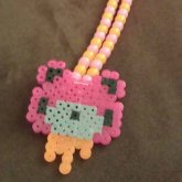 Gloomy Bear Perler Necklace