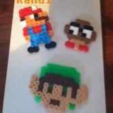 Mario, Mushroom, And Zelda Dude Perler!