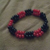 Black And Red 2 Bead