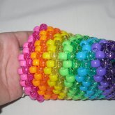 Rainbow Sparkley Cuff