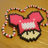 Peyote Stitch Deadmau5 Mushroom Necklace