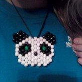Panda Peyote Neckalce =)