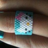Hello Kitty Mini Peyote Cuff Ring