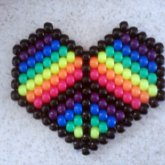 Rainbow Peace Heart(: