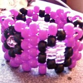 Mini Purple Leopard Cuff!