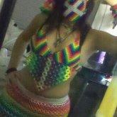 Rainbow Kandi Top :3