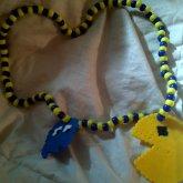 Perler Bead Pac Man Necklace
