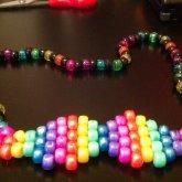 Metallic Rainbow Mustache Necklace