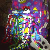 Kandi Hanging From My Bookbag.