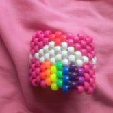 Kandi Rainbow Cupcake Cuff