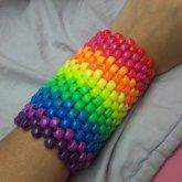 LARGE Rainbow Kandii Cuff
