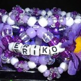 PURPLE EDC THEMED 3D KANDI CUFF 1