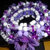 PURPLE EDC THEMED 3D KANDI CUFF 3