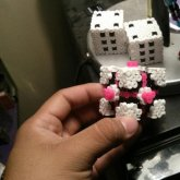3D Perler Companion Cube And Dice