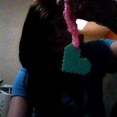 Perler Heart With Pink  Bracelet .