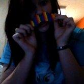 Perler Rainbow Mustache