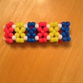 Pink, Blue, And Yellow X-Base Cuff