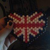 British Flag Heart Peyote