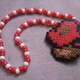 Mushroom Perler Kandi Necklace
