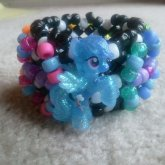 Glitter Rainbow Dash 3D Cuff
