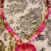 Mega Pink-tastic Heart Necklace (Complete)