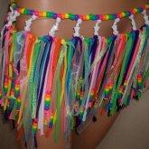 Glitter Rainbow Kandi Skirt
