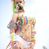 Lady Casa Rocking One Of My Kandi Bikinis
