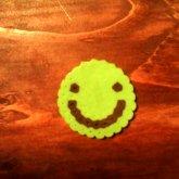 Perlerbead Green Smileface