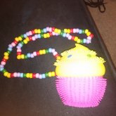 Light Up Squishy Cupcake Necklace