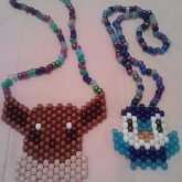 Piplup And Eevee Necklaces