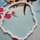 Plain White Choker Necklace