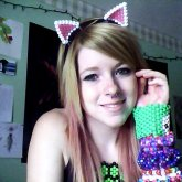 Glow In The Dark Kitty Ears :)